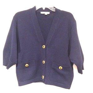 St. John | Navy Knit Cardigan size Medium
